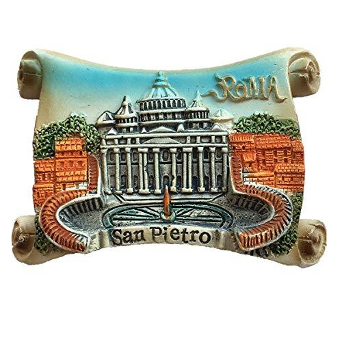 San Pietro Roma Italia Timbro Calamita 3D Frigorifero Regalo Regalo Casa e Cucina Decorazione Magnetica Adesivo Roma Italia Magnete Frigorifero Magnete