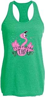 It's My Flocking Birthday Flamingo Funny Womens Tank Top