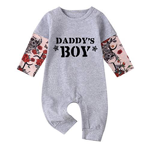 Body Bebe Manga Larga Frases Daddy'S Boy Ropa Bebe Niño Invierno Mamelucos Bebe Niño Recién Nacido Bodies Niños Hip Hop