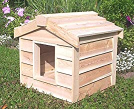CozyCatFurniture Waterproof Small Outdoor Cat House Made of Natural Cedar Wood, Thermal-Ply Insulation, Works in Winter & Summer