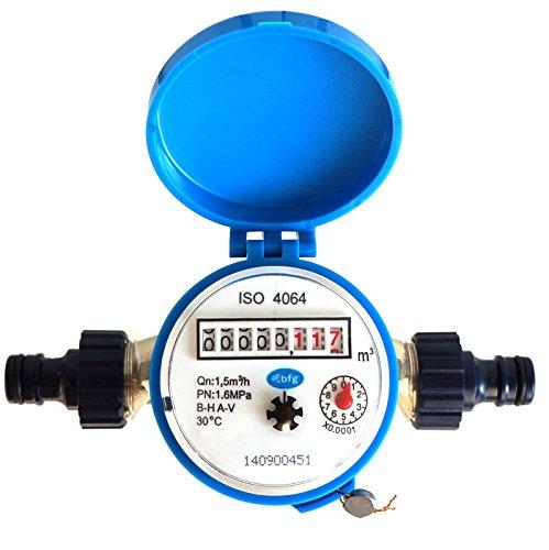 Contador de agua Jardín BFG 1,5 m³ / h conectores de plá