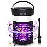 Hisome Mosquito Zappers Killer, Waterproof Electric Fly Killer Light with Camping Lantern, Solar Powered/USB Rechargeable Bug Zapper for Indoor Outdoor