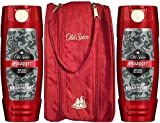 Old Spice Red Zone Body Wash, Swagger, 16 Oz (Pack of 2) Bundled with Toiletry Bag