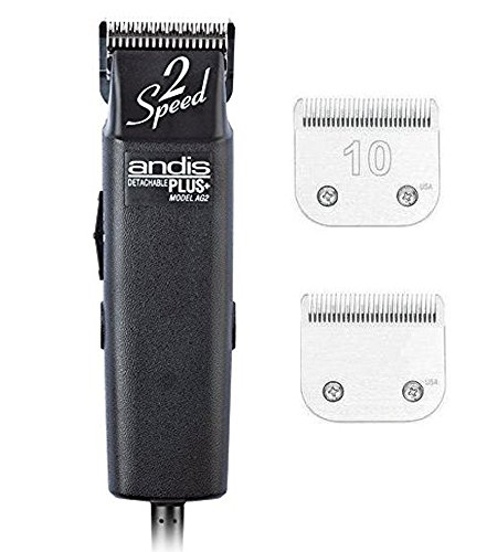 Andis ProClip AG2 2-Speed Detachable Blade Clipper, Professional Animal Grooming, AG-2 (22215) Plus an Extra Blade