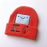 Otoño e Invierno Nuevo Lindo Robot de Dibujos Animados para niños de Punto cálido suéter de bebé Sombrero Moda niño Sombrero