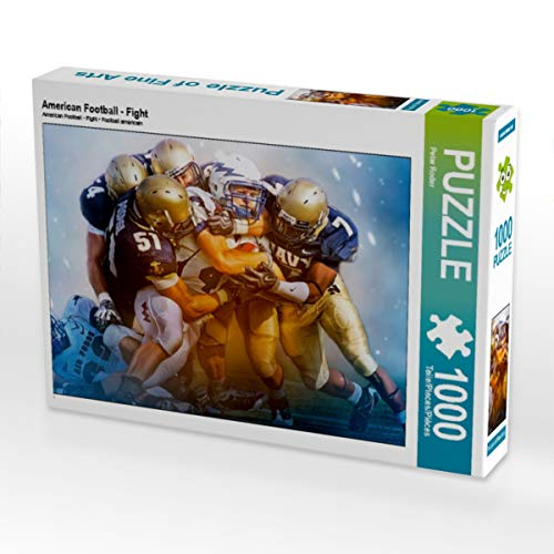 CALVENDO Puzzle American Football - Fight 1000 Teile Lege-Größe 64 x 48 cm Foto-Puzzle Bild von Peter Roder