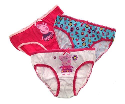 Peppa Pig Mädchen-Unterhosen aus Baumwolle, Größen 2–8 Jahre, 3 Stück, rose, 110-122