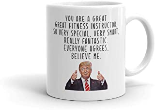 Fitness instructor mug Funny trump mug Instructor coffee mug Trainer mug Fitness trainer gift Funny instructor gift Gym gift Best instructor