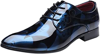 HLIYY Chaussure Homme Cuir, Mocassins Loafers Oxford Homme Chaussure Derby Lacets Dressing Casual Business Respirant Baske...