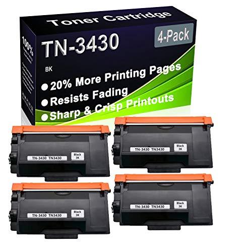 Cartucho de impresora láser compatible con DCP-L5500 DCP-L6600 HL-5000 HL-L5100 HL-L6250DN (alta capacidad) para Brother TN-3430 TN3430 (4 unidades)