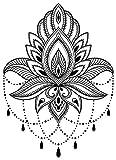 Tatuaje de mandala, tatuaje para el pecho, festival, AL010
