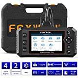 FOXWELL NT614E Car Diagnostic Tool, Engine Transmission ABS SRS Code Reader for All Cars with Oil Light Reset&EPB Reset Service, Check Engine OBD2 Scanner Tool for TCM ABS SRS with Carrying Case