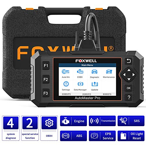 FOXWELL NT614E Car Diagnostic Tool, Engine Transmission ABS Airbag Code Reader for All OBDII Cars with Oil Light Reset&EPB Reset,OBD2 Scanner Check Engine, Diagnostic Scanner for TCM/ABS/SRS