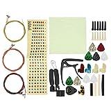 Kit de cambio de cuerdas de guitarra, piezas de repuesto de guitarra que incluyen cuerdas de guitarra para principiantes