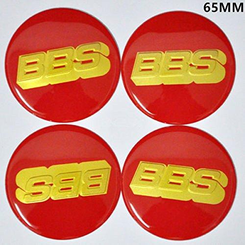 Gold Wheel Centre Cap Sticker Logo 3D 56mm BBS Green 4x Sticker Only