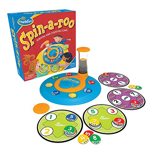 Product Image of the Think Fun Spin-a-roo Counting and Sorting Board Game