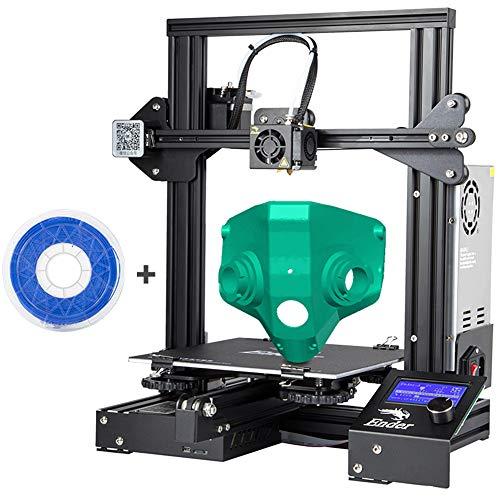 Ender 3 Pro DIY Imprimante avec plaque amovible Surface de construction et magnétiques Lit imprimante Impression 3D Creality, fente V Reprise de panne de courant Hotbed certifié UL Alimentation