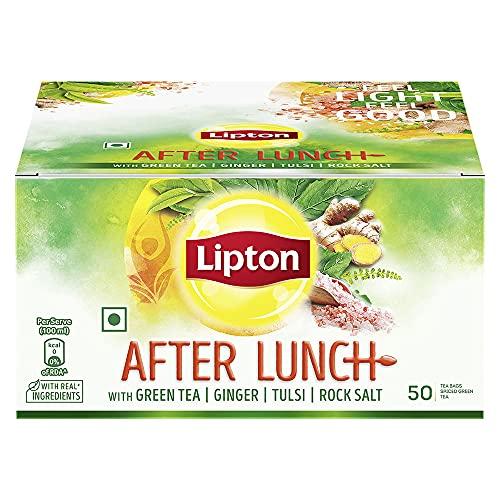 Lipton After Lunch with Green Tea, Ginger, Tulsi, Rock Salt, 50 Pcs