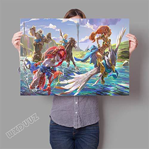 SDFSD 3D-Online-Spiel Poster für Kinderzimmer Schlafzimmer Wohnkultur Wandkunst HD Kinderzimmer Kinderzimmer Cartoon Film Leinwand Malerei 40 * 50cm