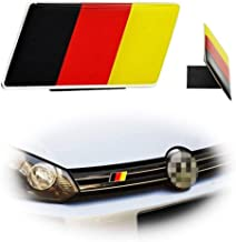 iJDMTOY Set of Germany Flag Emblem Grille Badge Fit Germany Cars Such As for Audi BMW Mercedes Porsche Volkswagen Front Grill Decoration