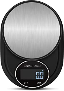 AQwzh Digital Kitchen and Food, Accurate Multifunction Scale in Grams and Ounces, Max 11lbs/5kg Cooking and Baking, Precis...