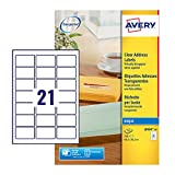 Avery Self Adhesive Address Mailing Labels, Inkjet Printers, 21 Labels per A4 Sheet, 210 labels, QuickDRY (J8560)
