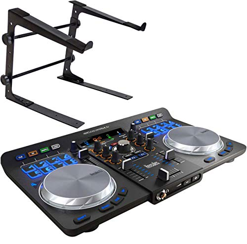 Hercules Universal DJ USB Bluetooth DJ Controller + keepdrum Laptop Soporte