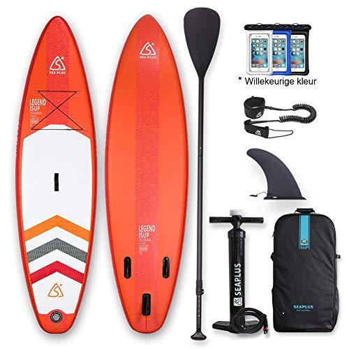 SUP Aufblasbares Stand Up Paddle Board Set 320 * 78 * 15cm ISUP Mit Hochdruck-Pumpe Sicherungsleine, Repartur Set, und Rucktasche für Surfen, Flusspaddeln, Yoga usw
