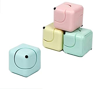 Candora. New Square Cube Spinner Finger Fidget Gyro Desk EDC Decompression Toys (Set of 4 Pcs)