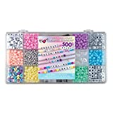 Fashion Angels Tell Your Story Pastel Bead Case 12516 Bracelet Making Kit, Includes 500+ Beads,multi