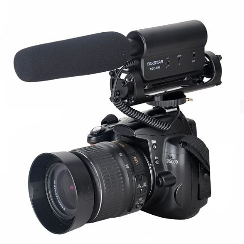 TAKSTAR SGC-598 Interview Camera Microphone Super-Cardioid Directional DSLR Microphone Photography Interview Lightweight Shotgun Mic for Nikon,Canon,DV, DSLR, Camcorder(Need 3.5mm Interface)