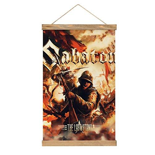 Lienzo de alta calidad para colgar una imagen, póster de SABATON, mur