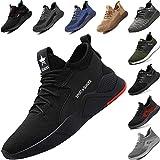 Zapatos de Seguridad con Punta de Acero para Hombre Mujer - Cómodos Ligeros y Transpirables, Talla 36-48