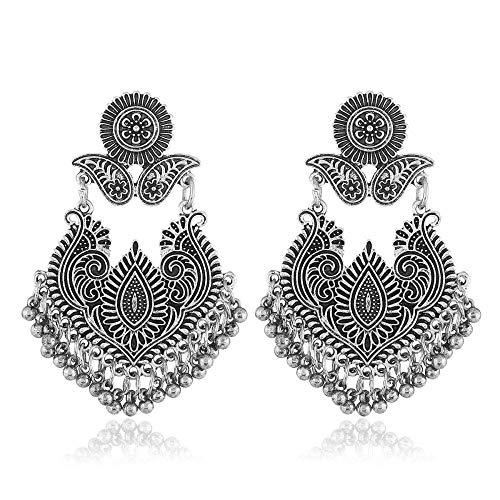 OUHUI Pendientes de Perlas Imitadas Pendientes de Circón Imitados Brillantes Pendientes de Novia Pendientes Hechos a Mano Pendientes de Gota Adecuados para Fiestas Y Bodas Exquisito