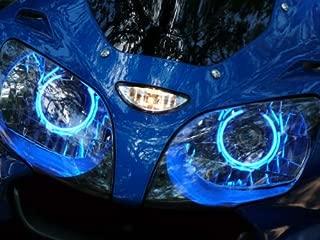 CCFL Demon Halo Angel Eyes Headlight Kit for Kawasaki Ninja 500R 650R 1997-2013