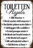 Schatzmix Blechschild Spruch Toiletten Regeln veraltet Metallschild Wanddeko 20x30 tin Sign