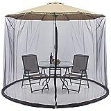 SmashingDealsDirect Gartenschirm Moskito Sonnenschirmabdeckung. Verwandeln Sie Ihren Sonnenschirm in einen Pavillon! (11 ft)