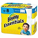 Bounty 92981CT Basic Select-a-Size Paper Towels 5 9/10 x 11 1-Ply 95/Roll 6 Roll/Pack