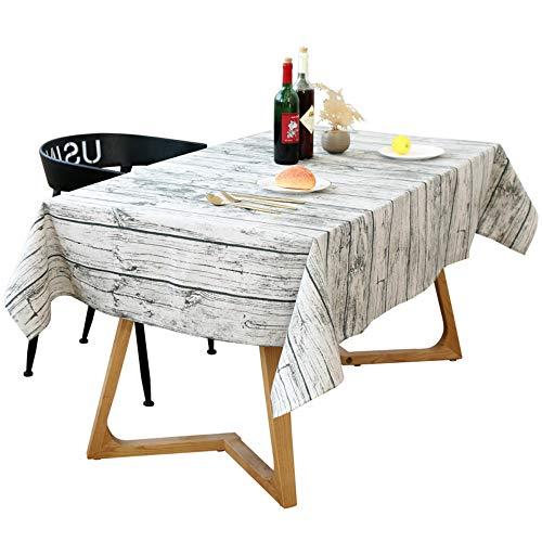 Stafeny - Mantel lavable de lino y algodón, imitación de corteza de madera, decoración de granos, mesa de comedor, mesa de café, cojín de mesa