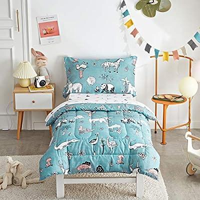 4 Piece Polyester Toddler Bedding Set
