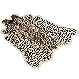 QLING Alfombra Moda Hogar Suave Leopardo Alfombra Piel Artificial Antideslizante Grande Simulación Alfombras Sala Estar Cocina Animal Print