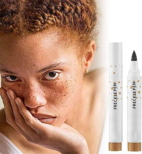 Faux Freckles Makeup Pen,Natural Lifelike Freckle Pen,Soft Lasting Waterproof Dot Spot Pen Create The Most Effortless Sunkissed (Light Brown)