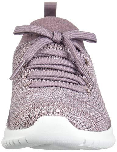 Skechers Ultra Flex, Zapatillas sin Cordones Mujer, Morado (LAV Black Knit Mesh/Trim), 37 EU