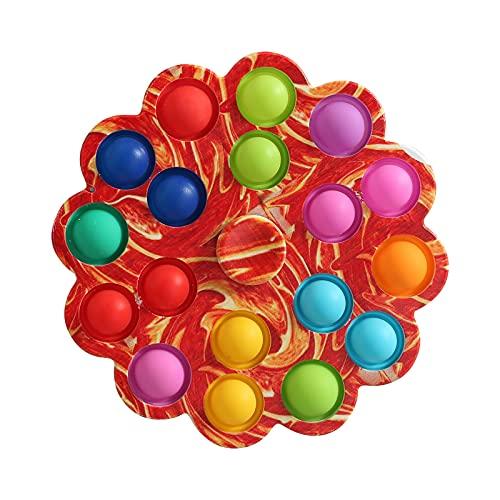 wdehow Stressabbau Spielzeug Saugspielzeug, Kreisel Spielzeug, Spin Sucker Spinner Spielzeug, Fidget Spinner Pack für Baby/Kleinkind (Red, 2 * 12.5 * 12.5)