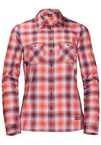 Jack Wolfskin Damen Saru Shirt W Hemd, Violet Pearl Checks, M