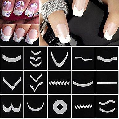 MZP 18 Nail Sticker Art Guide Conseils français Maquillage cosmétique Nail Art Design