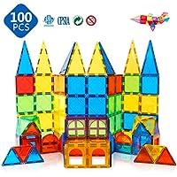 100-Piece Magblock 3D Magnetic Building Tiles