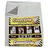CoverGrip 8 oz Canvas Safety Drop Cloth, 3.5' x 12'
