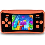 QINGSHE Portable Handheld Game Console for Kids, 2.5' Color LCD 182 Classic Games, Retro Arcade Gaming System TV Output Video Game Player,Best Birthday for Children (Orange)