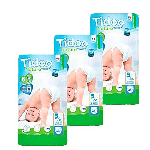 Pack Pañales T5 Junior (12/25 kg) Tidoo 138 uds